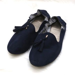 Cato scrunchy flats with tassels